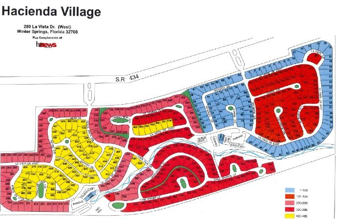 Hacienda Village mobile home community map