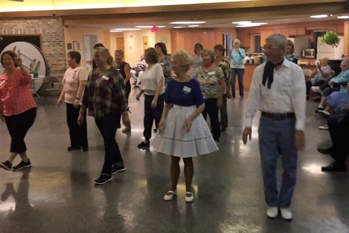 square dancing line dancing